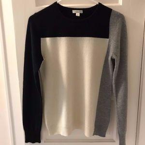 Garnet Hill Cashmere Color Block Sweater